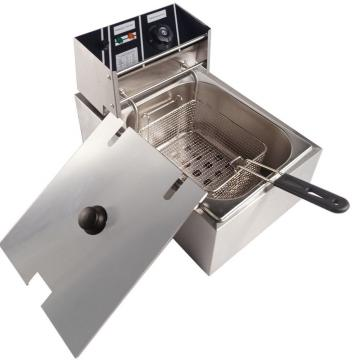 Stainless Steel Single Tank Electric Deep Fryer Dzl-17V